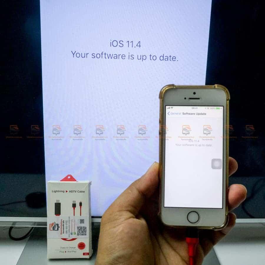 ต่อมือถือเข้าทีวี ด้วย lightning to hdmi รุ่นล่าสุด iOS 11.4