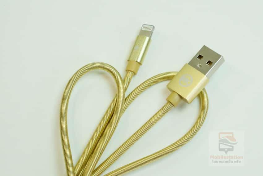 สายชาร์จไอโฟน date cable สายสปริง lightning 2