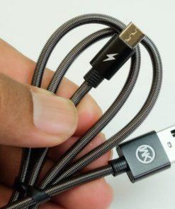 สายชาร์จ date cable สายสปริง micro usb