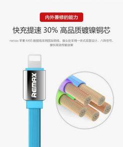 สายชาร์จ remax Safe&Speed data cable lightningสายแบน หอม สำหรับ IPhone 16