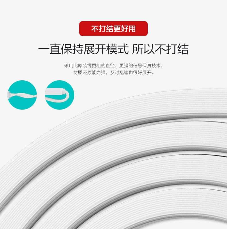 สายชาร์จ remax Safe&Speed data cable lightningสายแบน หอม สำหรับ IPhone 19
