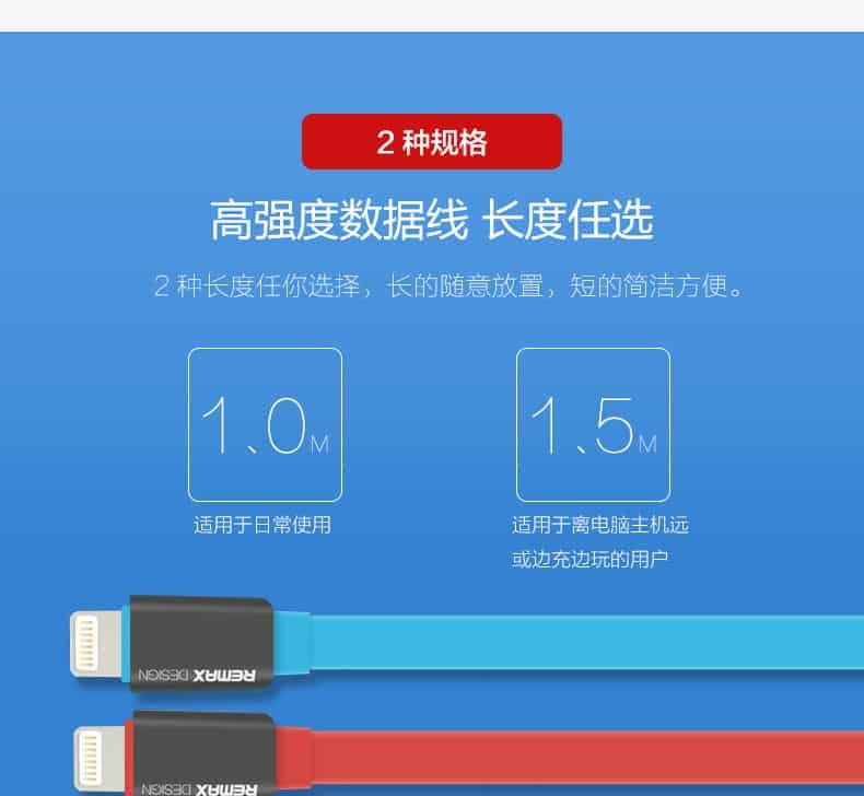 สายชาร์จ remax Safe&Speed data cable lightningสายแบน หอม สำหรับ IPhone 23