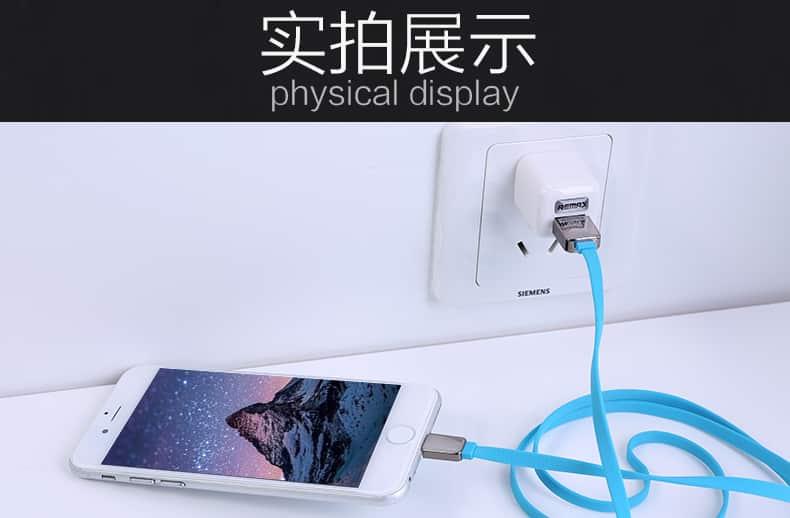 สายชาร์จ remax Safe&Speed data cable lightningสายแบน หอม สำหรับ IPhone 33