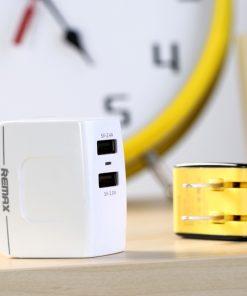 หัวชาร์จ Remax USB Charger 3.4A 2 ช่องชาร์จ รองรับมือถือทุกรุ่น 5