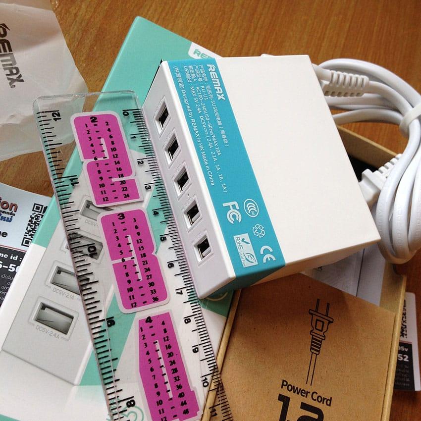 หัวชาร์จ-USB-5-Port-Remax-USB-Charger-5U-รุ่น-RU-U1-11