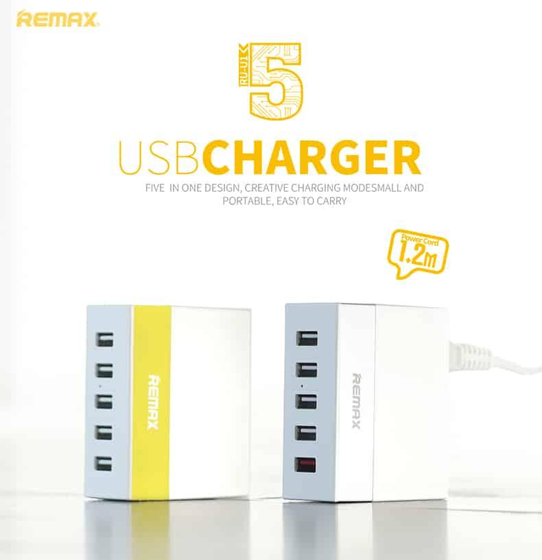 หัวชาร์จ-USB-5-Port-Remax-USB-Charger-5U-รุ่น-RU-U1-13