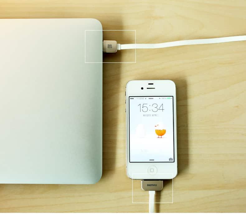 สายชาร์จ Remax Safe&Speed iPhone 4-4S 9