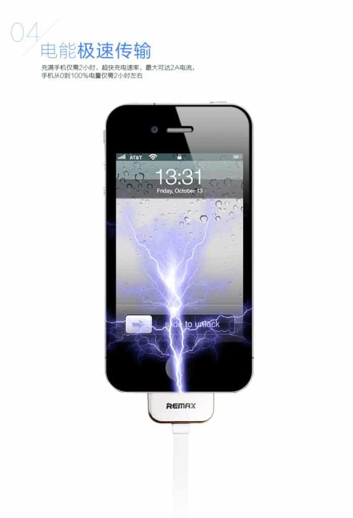 สายชาร์จ Remax Safe&Speed iPhone 4-4S 4