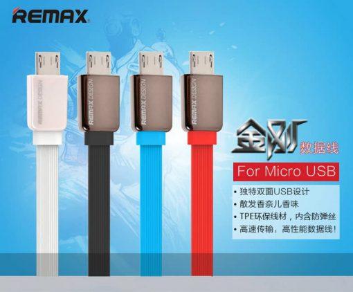 สายชาร์จ Remax Safe&Speed data cable microusb สายแบน หอม