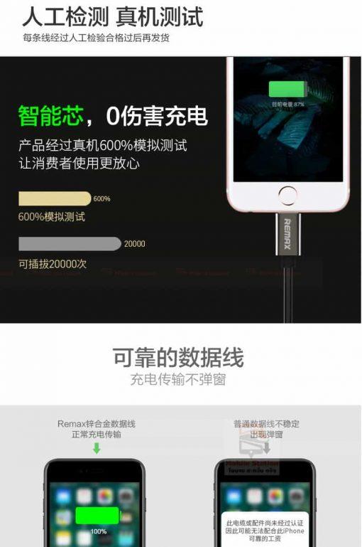 สายชาร์จ remax RC-054i Emperor Data Cable for iPhone 7