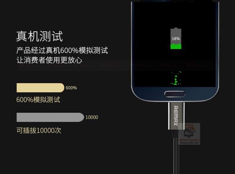 สายชาร์จ remax RC-054m Emperor Data Cable for android 2