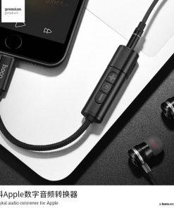 Lightning to Male 3.5 MM Audi And Charging Hoco LS6 Tonco digital Audio converter fot Apple 6