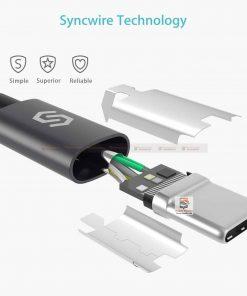 สายชาร์จ Syncwire USB Type C Cable Devices: Apple New Macbook, ChromeBook Google Pixel, Samsung Galaxy S8/S8+, Pixel C, Nexus 5X / 6P, OnePlus 2/3T, HTC 10/U11, Sony Xperia XZ, Lumia 950 / 950XL, LG G5, Asus Zen AiO, Lenovo Zuk Z1, HP Pavilion X2, ASUS ZenPad S 8.0, New Nokia N1 tablet, Nintendo Switch, GoPro5 6