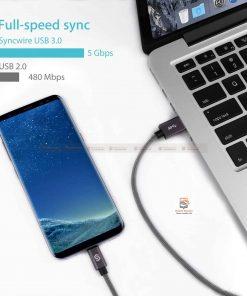 สายชาร์จ Syncwire USB Type C Cable Devices: Apple New Macbook, ChromeBook Google Pixel, Samsung Galaxy S8/S8+, Pixel C, Nexus 5X / 6P, OnePlus 2/3T, HTC 10/U11, Sony Xperia XZ, Lumia 950 / 950XL, LG G5, Asus Zen AiO, Lenovo Zuk Z1, HP Pavilion X2, ASUS ZenPad S 8.0, New Nokia N1 tablet, Nintendo Switch, GoPro5 4