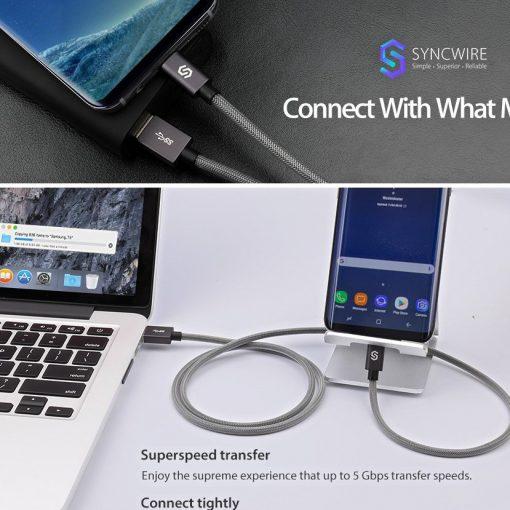 สายชาร์จ Syncwire USB Type C 17