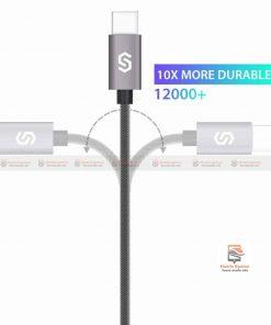 สายชาร์จ Syncwire USB Type C Cable Devices: Apple New Macbook, ChromeBook Google Pixel, Samsung Galaxy S8/S8+, Pixel C, Nexus 5X / 6P, OnePlus 2/3T, HTC 10/U11, Sony Xperia XZ, Lumia 950 / 950XL, LG G5, Asus Zen AiO, Lenovo Zuk Z1, HP Pavilion X2, ASUS ZenPad S 8.0, New Nokia N1 tablet, Nintendo Switch, GoPro5 11