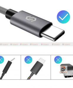 สายชาร์จ Syncwire USB Type C Cable Devices: Apple New Macbook, ChromeBook Google Pixel, Samsung Galaxy S8/S8+, Pixel C, Nexus 5X / 6P, OnePlus 2/3T, HTC 10/U11, Sony Xperia XZ, Lumia 950 / 950XL, LG G5, Asus Zen AiO, Lenovo Zuk Z1, HP Pavilion X2, ASUS ZenPad S 8.0, New Nokia N1 tablet, Nintendo Switch, GoPro5 10