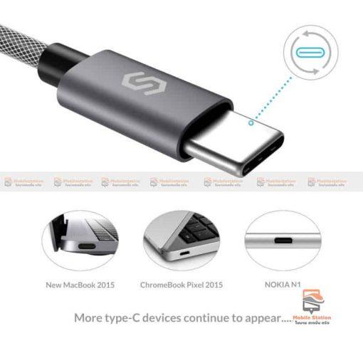 สายชาร์จ Syncwire USB Type C Cable Devices: Apple New Macbook, ChromeBook Google Pixel, Samsung Galaxy S8/S8+, Pixel C, Nexus 5X / 6P, OnePlus 2/3T, HTC 10/U11, Sony Xperia XZ, Lumia 950 / 950XL, LG G5, Asus Zen AiO, Lenovo Zuk Z1, HP Pavilion X2, ASUS ZenPad S 8.0, New Nokia N1 tablet, Nintendo Switch, GoPro5 9