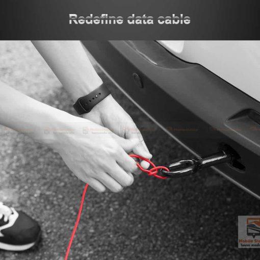 สายชาร์จไอโฟน ROCK 2.1A Hi-Tensile Data Sync USB Cable for iPhone X, 8, 8 Plus, 7, 7 Plus, 6s, 6s,5-12