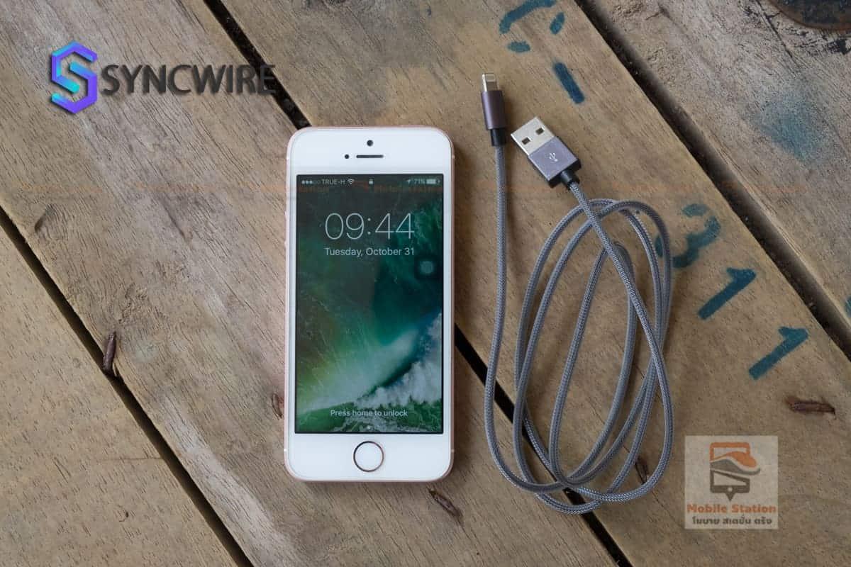 สายชาร์จไอโฟน Syncwire MFi For iPhone for iPhone X, 8, 8 Plus, 7, 7 Plus, 6s, 6s Plus, 6, 6 Plus, SE, 5s, 5c, 5, iPad mini, iPad Air, Pro สายยาว 1 เมตร-24