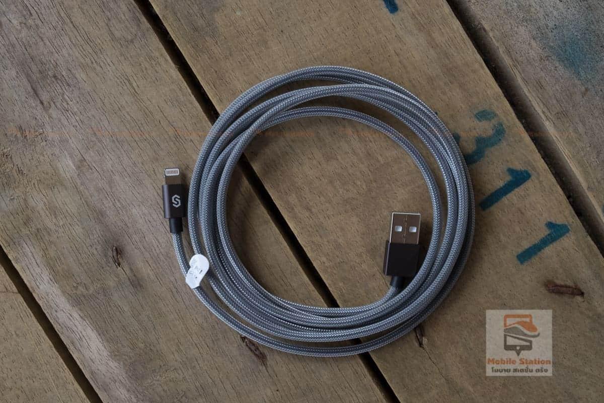 สายชาร์จไอโฟน Syncwire MFi For iPhone for iPhone X, 8, 8 Plus, 7, 7 Plus, 6s, 6s Plus, 6, 6 Plus, SE, 5s, 5c, 5, iPad mini, iPad Air, Pro สายยาว 2 เมตร-7