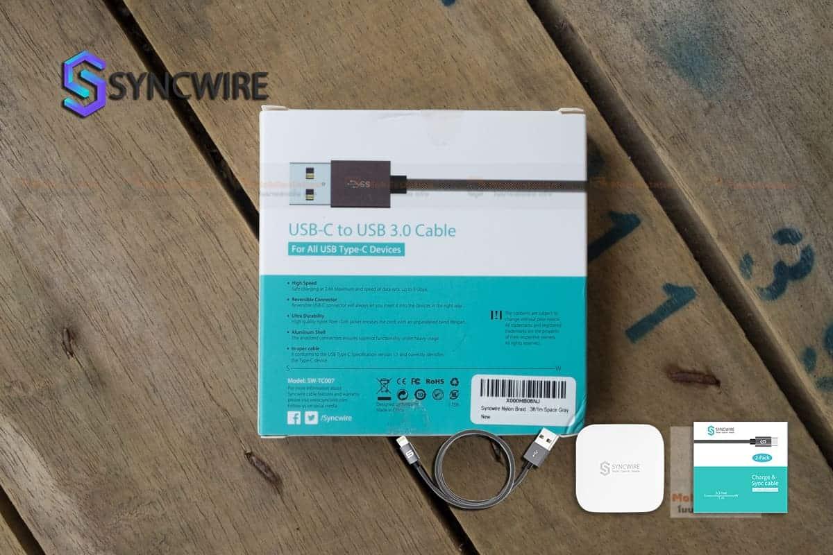 สายชาร์จ Syncwire USB Type C Cable-2