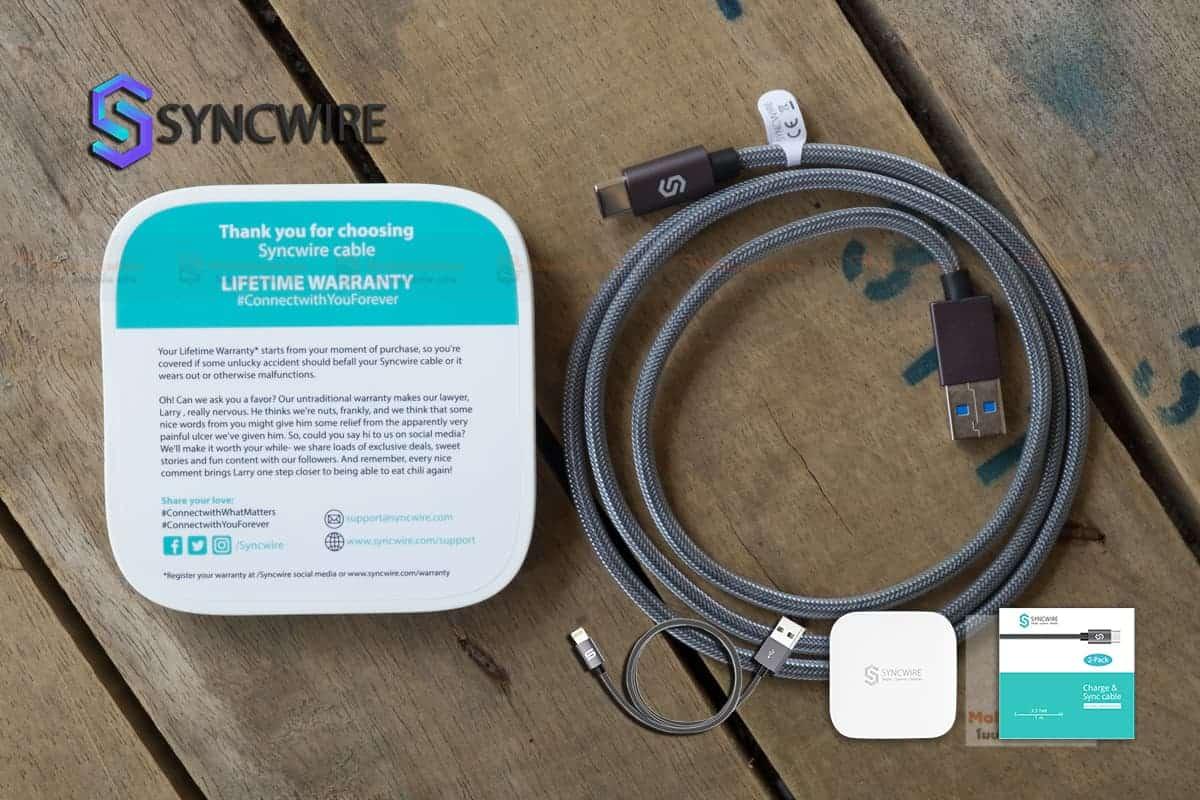 สายชาร์จ Syncwire USB Type C Cable-8