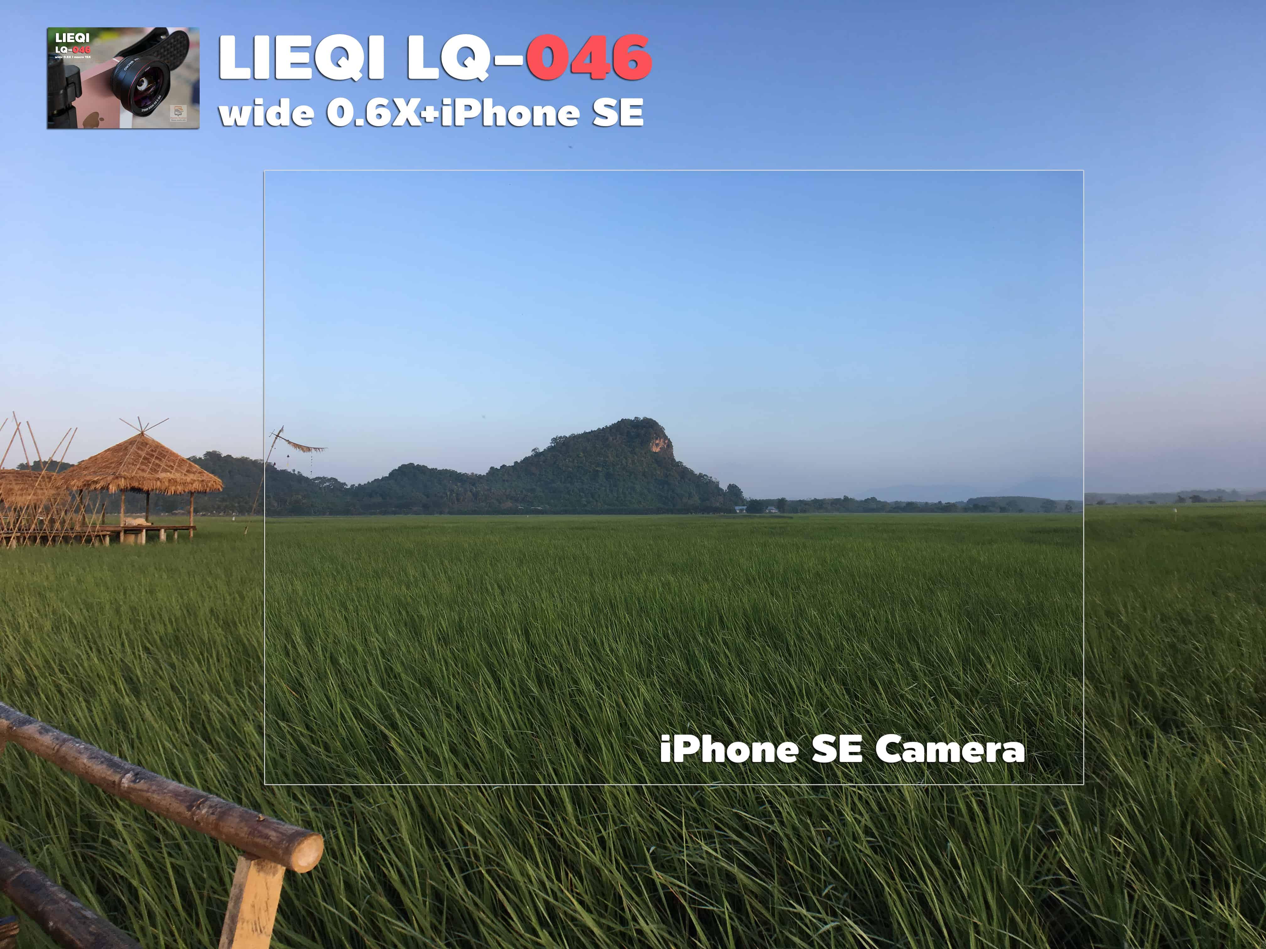 รีวิว LQ-046 เลนส์มือถือ Lieqi HD Wide 0.6X+Macro 15X ถ่ายสวยใส ไม่มีขอบดำ คมชัดทั้งภาพ กล้อง iPhone SE-10