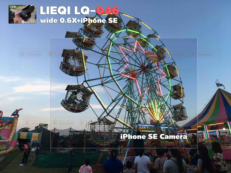 รีวิว LQ-046 เลนส์มือถือ Lieqi HD Wide 0.6X+Macro 15X ถ่ายสวยใส ไม่มีขอบดำ คมชัดทั้งภาพ กล้อง iPhone SE-14