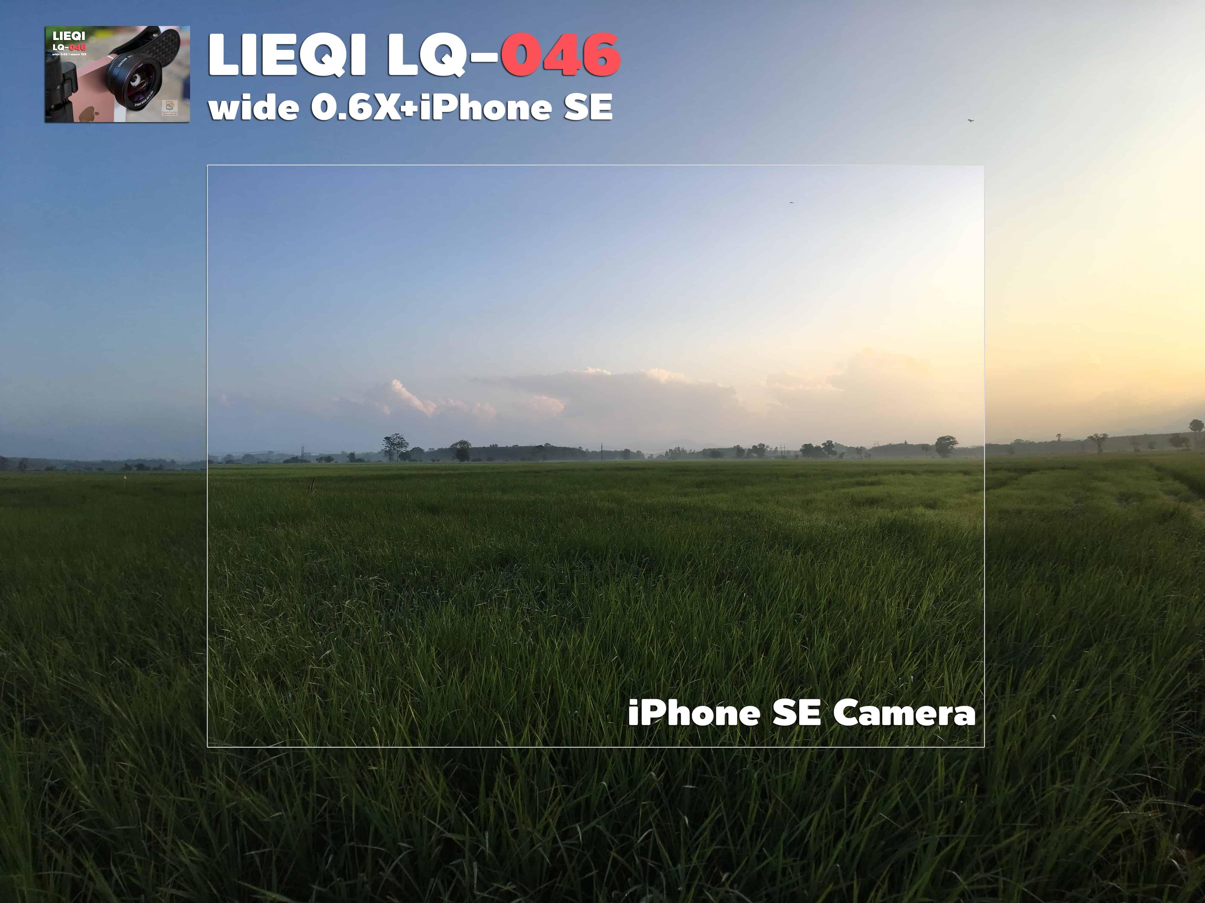 รีวิว LQ-046 เลนส์มือถือ Lieqi HD Wide 0.6X+Macro 15X ถ่ายสวยใส ไม่มีขอบดำ คมชัดทั้งภาพ กล้อง iPhone SE-9