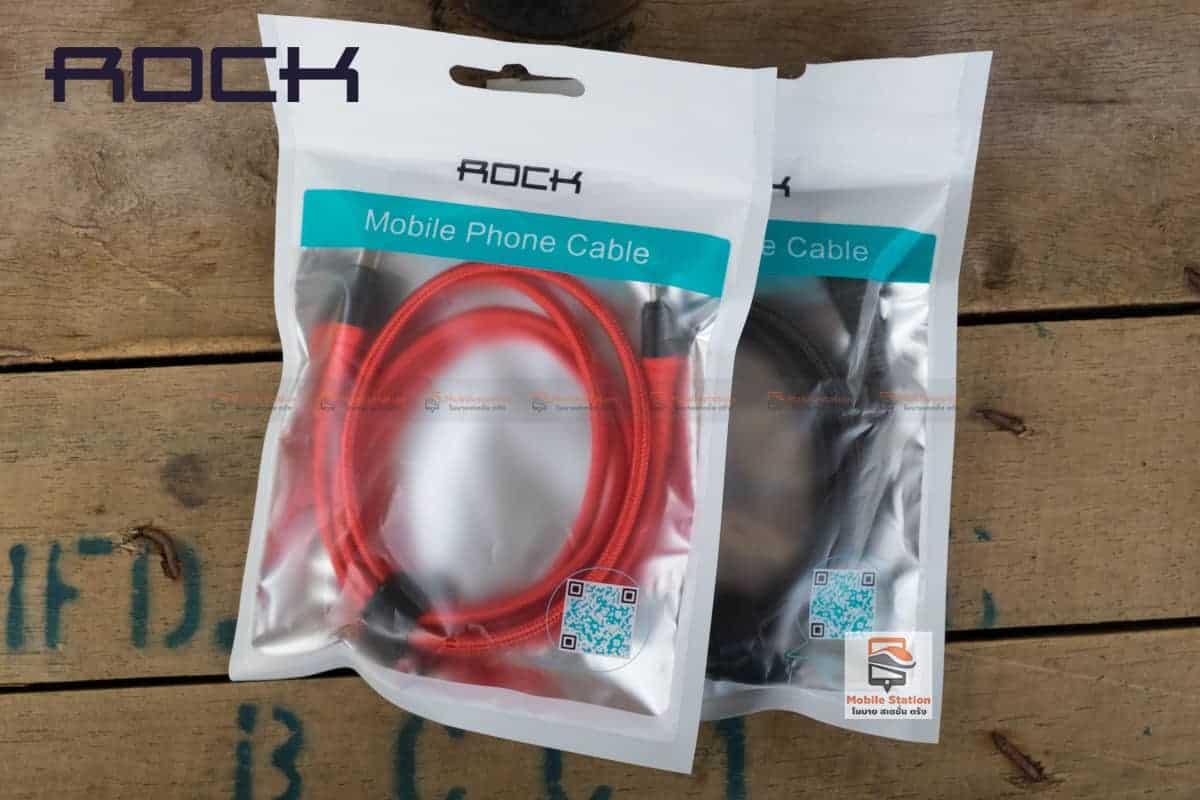 สายชาร์จไอโฟน ROCK 2.1A Hi-Tensile Data Sync USB Cable for iPhone X, 8, 8 Plus, 7, 7 Plus, 6s, 6s,5 รูปสินค้าจริง 17
