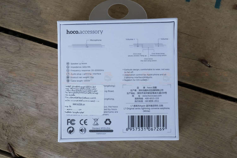 หูฟังไอโฟน7,7plus,8 Hoco L7 apple Origianl series lightning bluetooth ราคาถูก เสียงดี-2