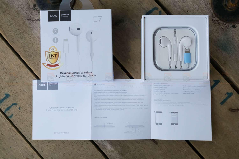 หูฟังไอโฟน7,7plus,8 Hoco L7 apple Origianl series lightning bluetooth ราคาถูก เสียงดี-9