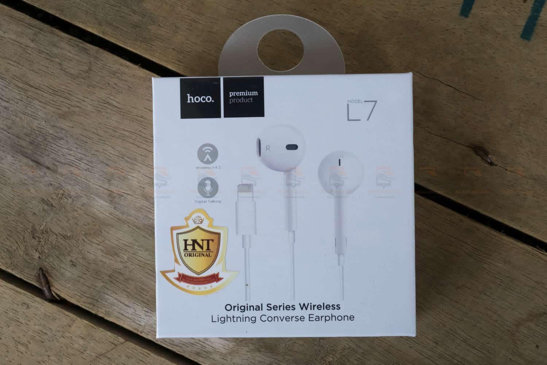 หูฟังไอโฟน7,7plus,8 Hoco L7 apple Origianl series lightning bluetooth ราคาถูก เสียงดี