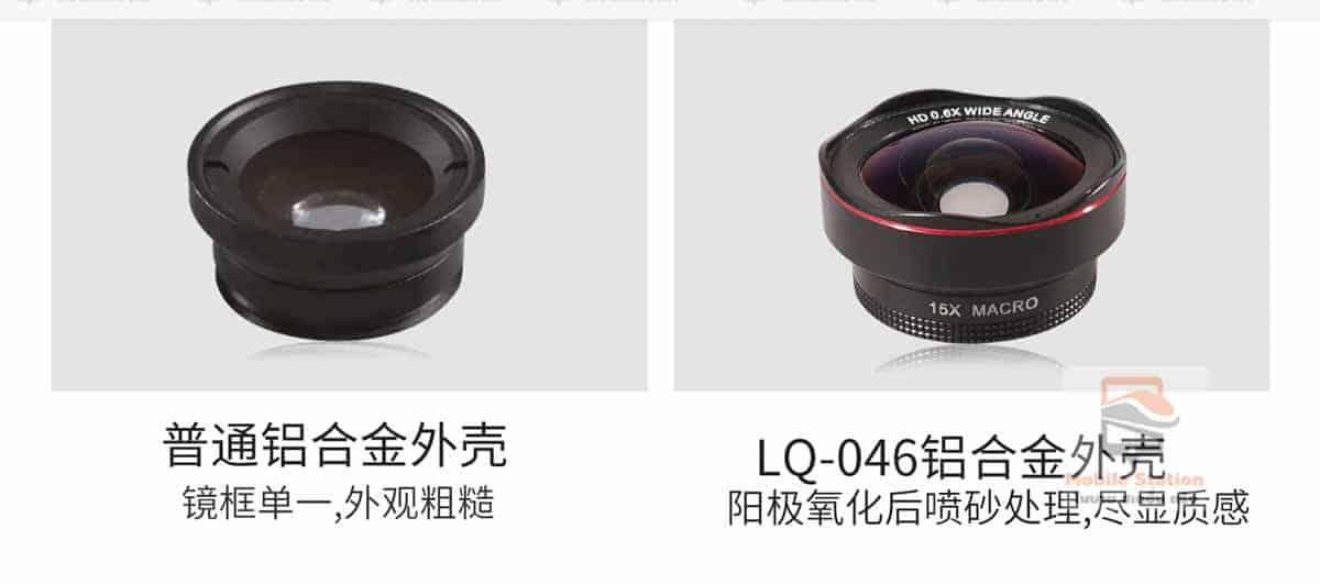 เลนส์มือถือ Lieqi Lq 046 wide 0.6x + macro 15x-17