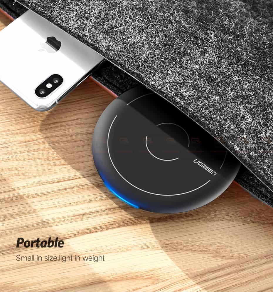 ที่ชาร์จไร้สาย Ugreen Wireless Charger for iPhone 8-X -8 Plus 10W Qi Fast Wireless Charging for Samsung Galaxy S8S-11