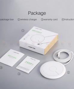 ที่ชาร์จไร้สาย Ugreen Wireless Charger for iPhone 8-X -8 Plus 10W Qi Fast Wireless Charging for Samsung Galaxy S8S-14
