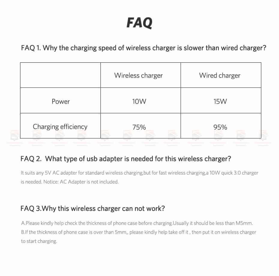 ที่ชาร์จไร้สาย Ugreen Wireless Charger for iPhone 8-X -8 Plus 10W Qi Fast Wireless Charging for Samsung Galaxy S8S-15