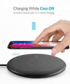 ที่ชาร์จไร้สาย Ugreen Wireless Charger for iPhone 8-X -8 Plus 10W Qi Fast Wireless Charging for Samsung Galaxy S8S-3