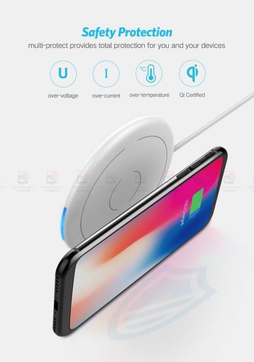ที่ชาร์จไร้สาย Ugreen Wireless Charger for iPhone 8-X -8 Plus 10W Qi Fast Wireless Charging for Samsung Galaxy S8S-6