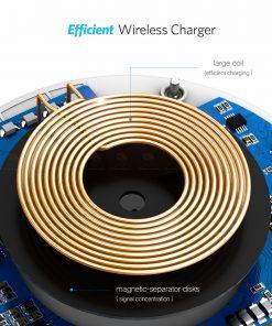 ที่ชาร์จไร้สาย Ugreen Wireless Charger for iPhone 8-X -8 Plus 10W Qi Fast Wireless Charging for Samsung Galaxy S8S-7