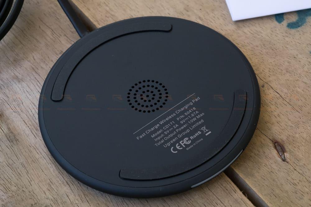 ที่ชาร์จไร้สาย Ugreen Wireless Charger for iPhone 8-X -8 Plus 10W Qi Fast Wireless Charging for Samsung Galaxy S8S_รูปจริง-10