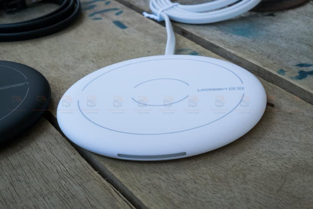 ที่ชาร์จไร้สาย Ugreen Wireless Charger for iPhone 8-X -8 Plus 10W Qi Fast Wireless Charging for Samsung Galaxy S8S_รูปจริง-14