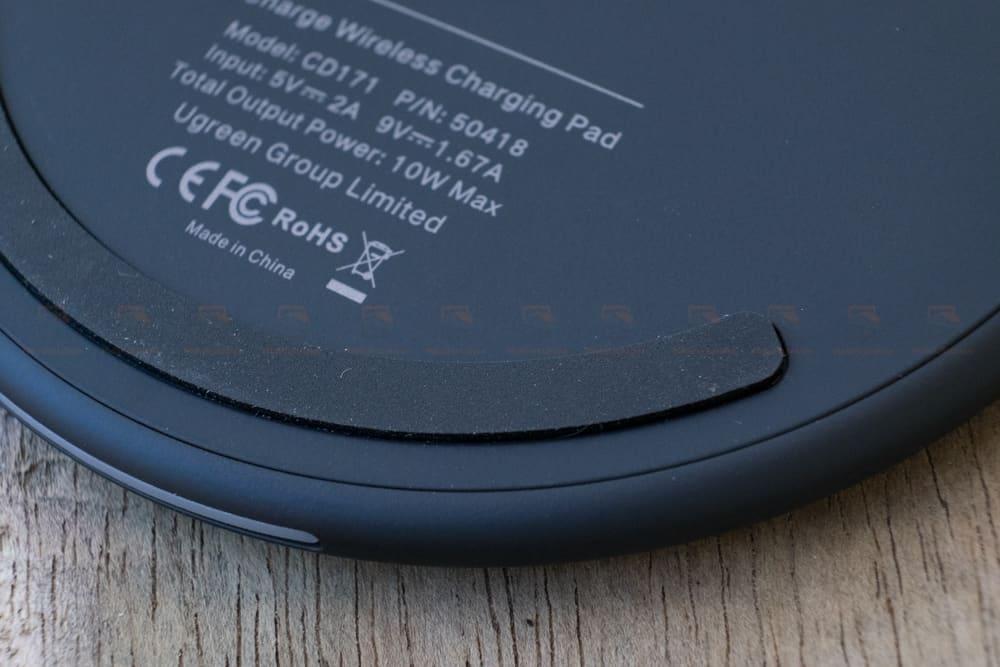 ที่ชาร์จไร้สาย Ugreen Wireless Charger for iPhone 8-X -8 Plus 10W Qi Fast Wireless Charging for Samsung Galaxy S8S_รูปจริง-20