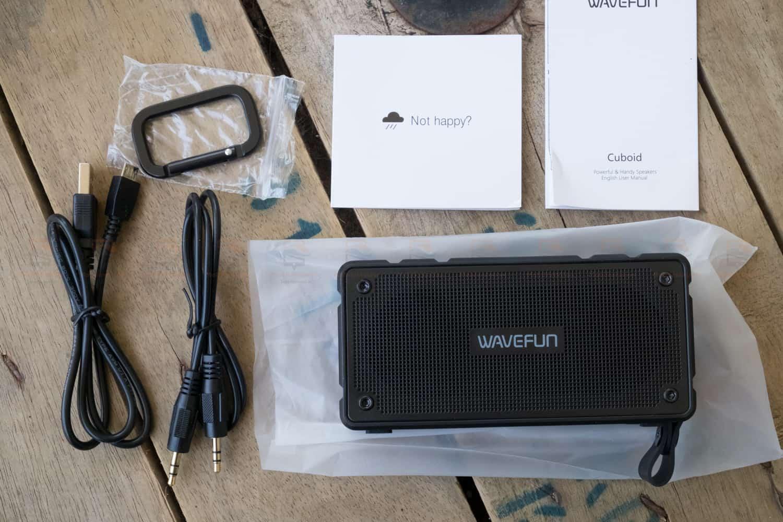 ลำโพงบลูทูธ 10W Wavefun Cuboid Bluetooth Speaker พกพา กันน้ำ ราคาถูก เสียงดี-3