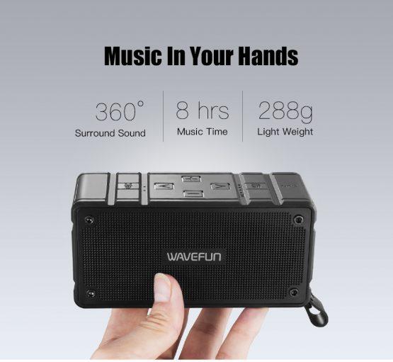 ลำโพงบลูทูธ 10W Wavefun Cuboid Bluetooth Speaker พกพา กันน้ำ ราคาถูก เสียงดี-3-3