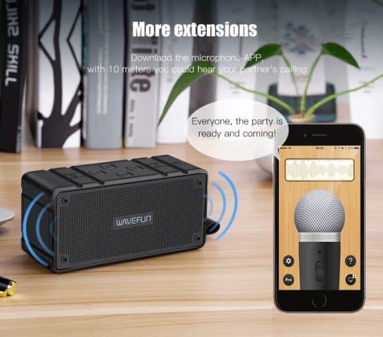 ลำโพงบลูทูธ 10W Wavefun Cuboid Bluetooth Speaker พกพา กันน้ำ ราคาถูก เสียงดี-5-5