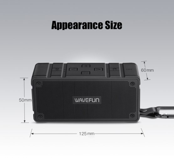 ลำโพงบลูทูธ 10W Wavefun Cuboid Bluetooth Speaker พกพา กันน้ำ ราคาถูก เสียงดี-8-8