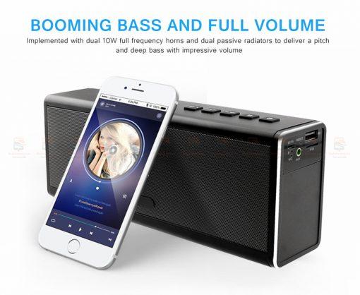 ลำโพงบลูทูธ 20W HIFI Wireless Stereo Super Bass Metal Bluetooth Speaker Detail-3