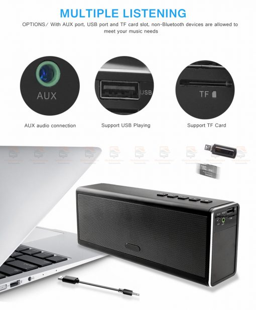 ลำโพงบลูทูธ 20W HIFI Wireless Stereo Super Bass Metal Bluetooth Speaker Detail-5